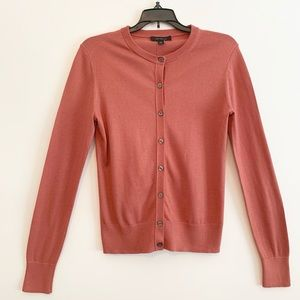 Ann Taylor Salmon Button-Up Sweater Size Small